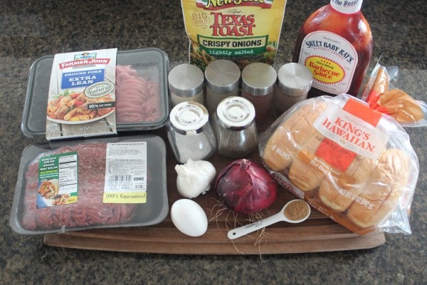 BBQ Meatball Sub Ingredients