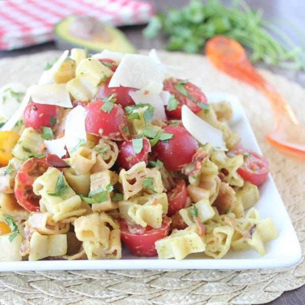 Bacon Tomato Avocado Pasta Salad Recipe