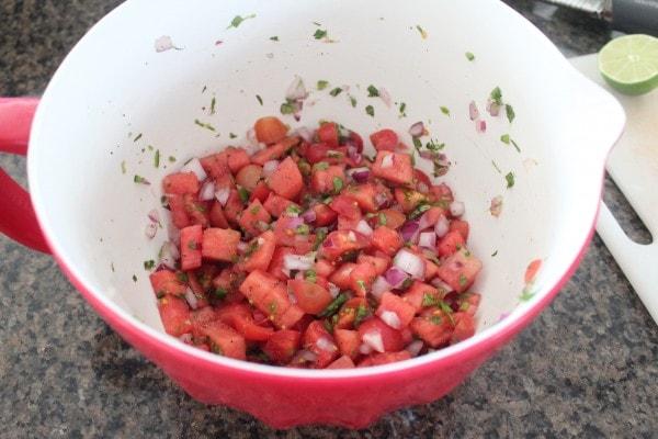 Watermelon Serrano Salsa Recipe