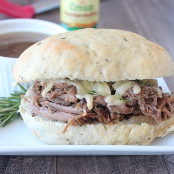 Rosemary Tri Tip French Dip Sandwich