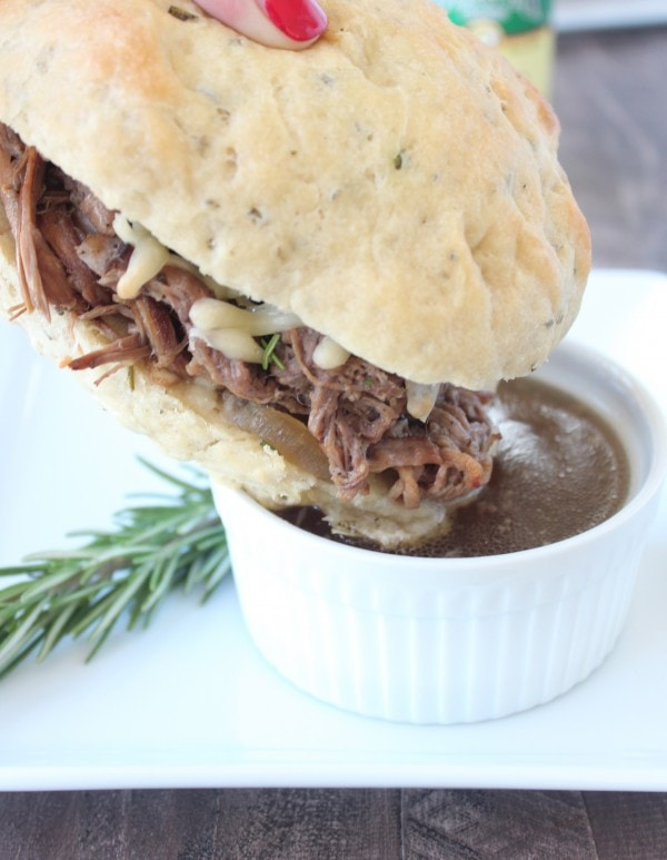 Rosemary Tri Tip French Dip Recipe with Au Jus