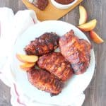 Grilled Peach Balsamic BBQ Chicken Recipe