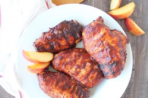 Grilled Peach Balsamic BBQ Chicken Recipe
