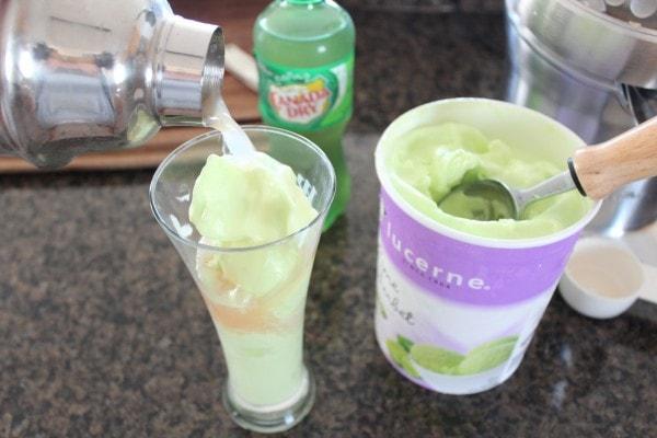 Grapefruit Lime Sherbet Float Cocktail Recipe
