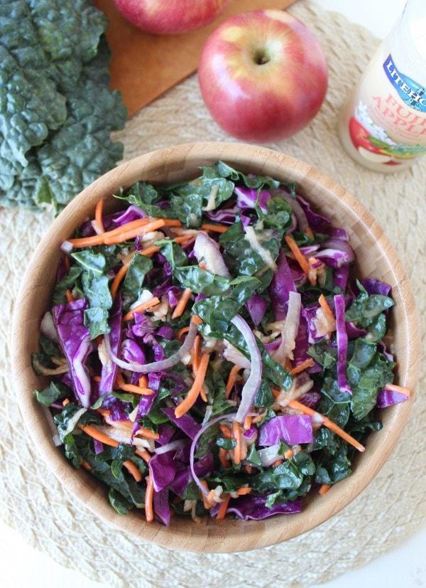 Vegan Kale Apple Slaw Recipe