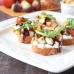Nectarine Fig Burrata Bruschetta