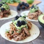 Slow Cooked Blackberry Jalapeño Pulled Pork Tacos