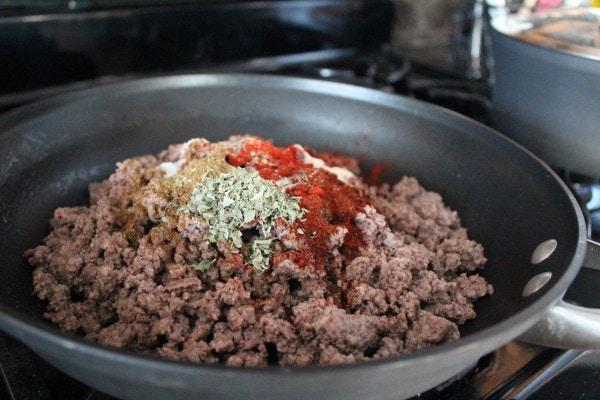 Enchilada Ground Beef Stuffed Poblano Pepper Recipe