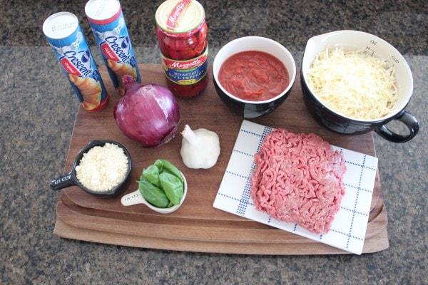 Sloppy Joe Pizza Roll Ingredients