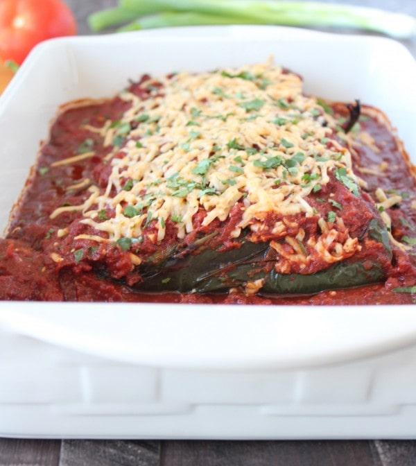 Gluten Free Stuffed Poblano Enchiladas Recipe