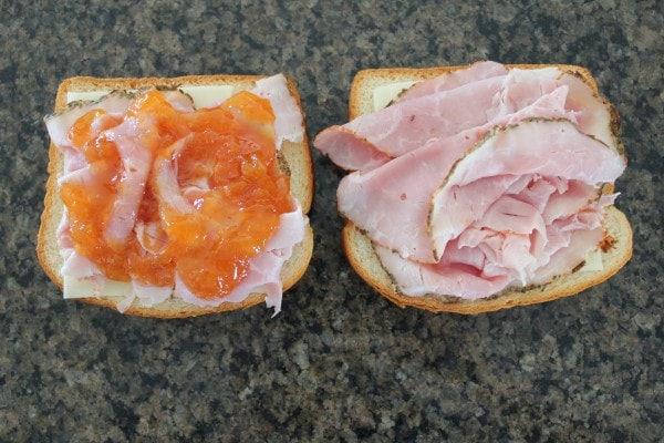 Apricot Ham and Cheese Sandwich Recipe