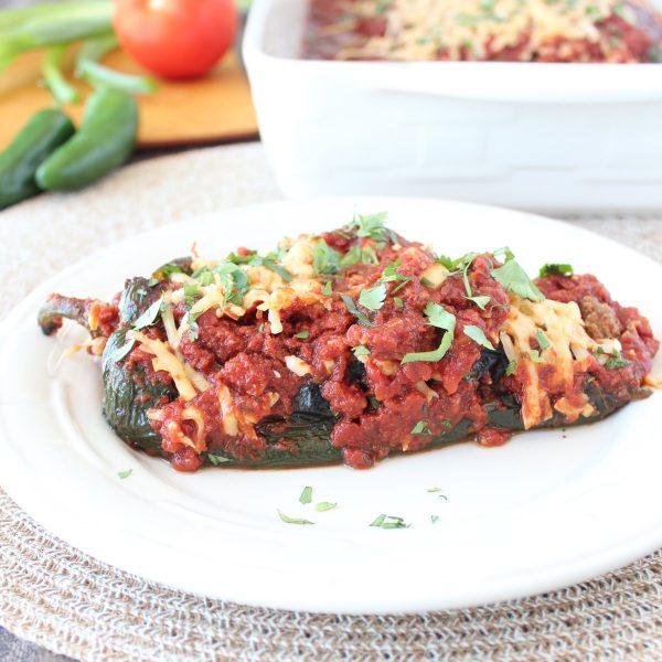 Gluten Free Stuffed Poblano Pepper Enchilada Recipe