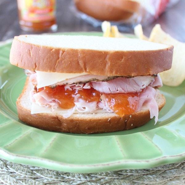 Apricot Ham and Swiss Sandwich