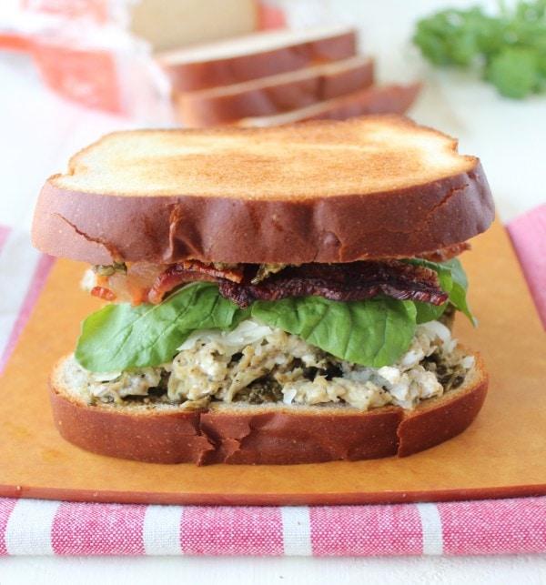 Pesto Bacon Egg & Cheese Breakfast Sandwich