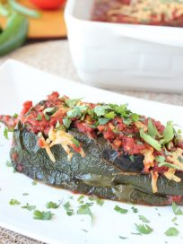 Stuffed Poblano Pepper Enchiladas