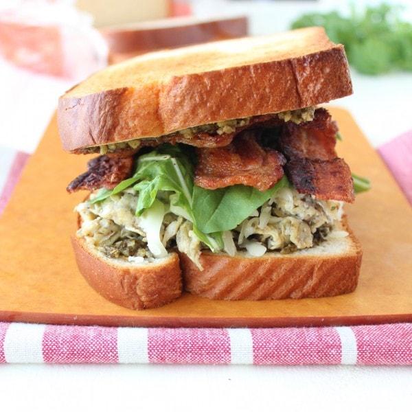 Pesto Bacon Egg Breakfast Sandwich