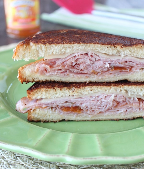 Grilled Apricot Ham and Cheese Sandwich Recipe