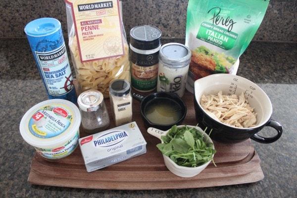 Chicken Caesar Baked Pasta Ingredients