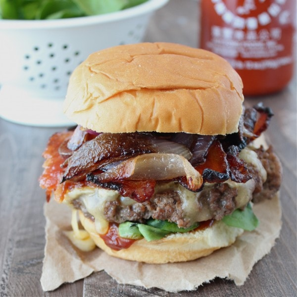 Candied Bacon & Brie Cheeseburgers