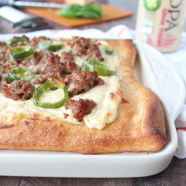 Jalapeno Ranch Sausage Pizza Recipe