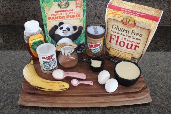 Crispy Peanut Butter Banana Gluten Free Waffles Ingredients