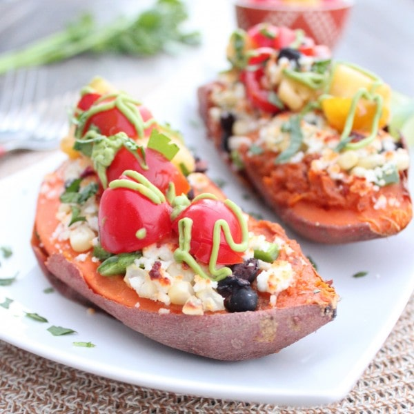 Gluten Free Mexican Twice Baked Sweet Potatoes
