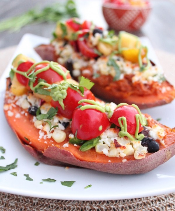 Mexican Twice Baked Sweet Potatoes Recipe