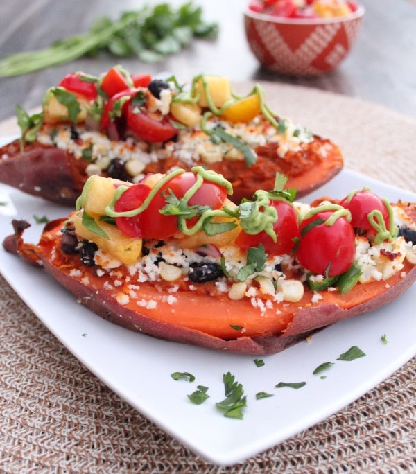Mexican Twice Baked Sweet Potatoes