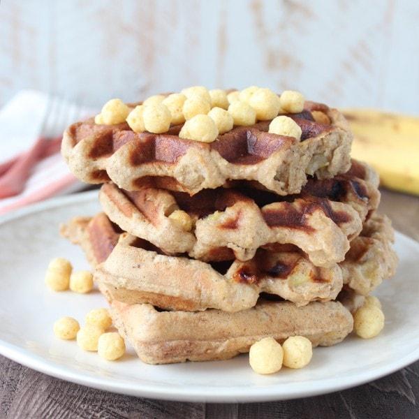 Gluten Free Peanut Butter Crunch Waffles