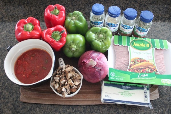 Slow Cooker Italian Stuffed Peppers Recipe Ingredients