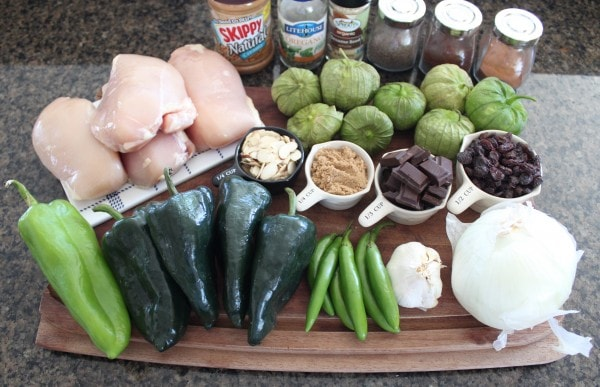 Slow Cooker Chicken Mole Ingredients