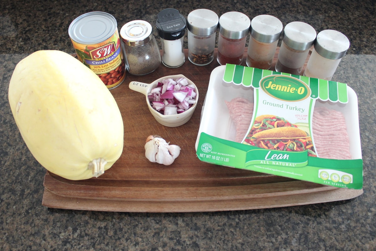 Turkey Chili Spaghetti Squash Recipe Ingredients
