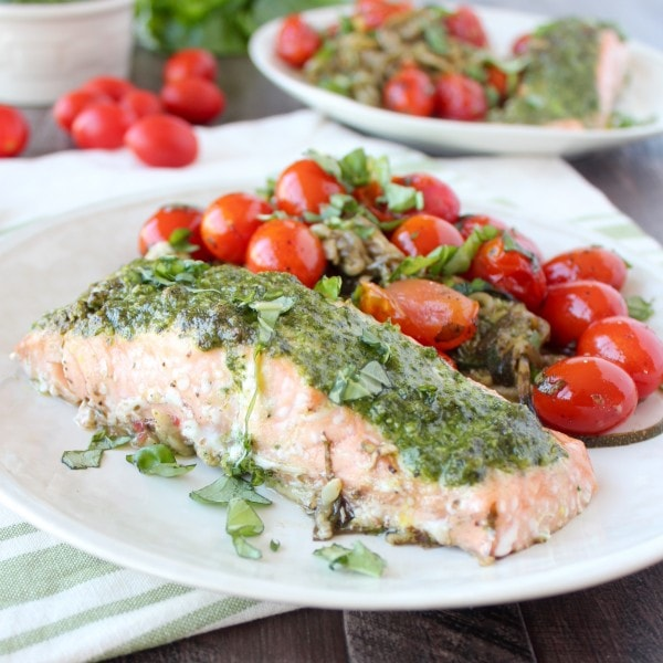 For this baked salmon recipe, I took a classic dinner that I grew up ...