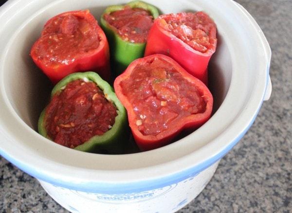 Slow Cooker Italian Stuffed Peppers Recipe