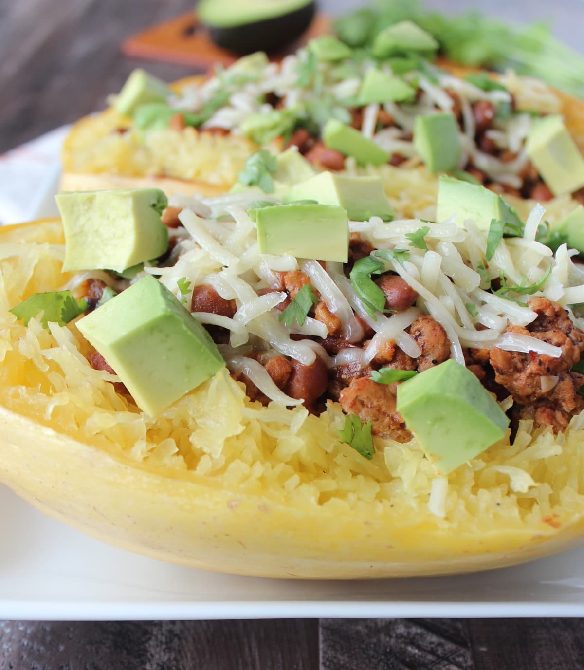 Turkey Chili Stuffed Spaghetti Squash Recipe