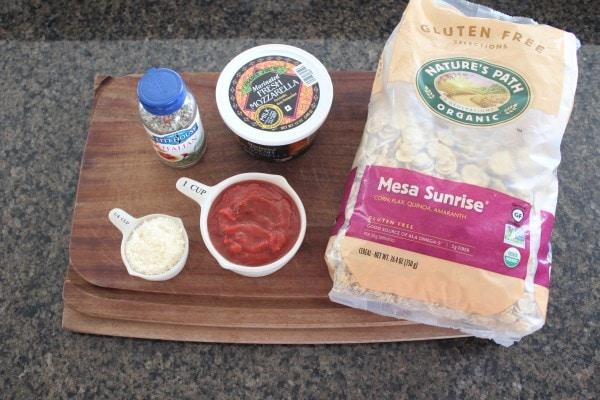 Gluten Free Baked Cheese Bite Ingredients