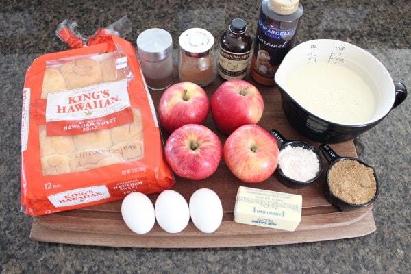 Caramel Apple Bread Pudding Recipe Ingredients