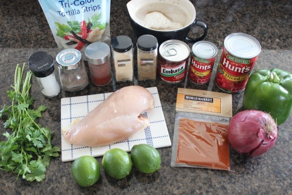 Slow Cooker Chipotle Chicken Tortilla Soup Ingredients