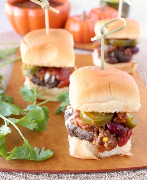 Pumpkin Chili Sliders