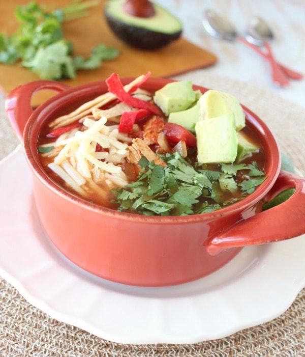 Crock Pot Chipotle Chicken Tortilla Soup Recipe