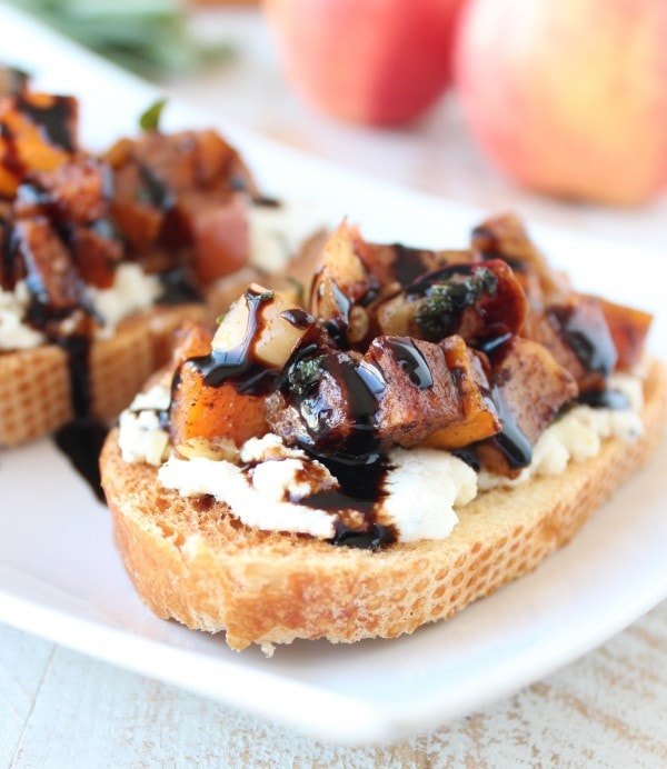 Butternut Squash Apple Ricotta Bruschetta Recipe
