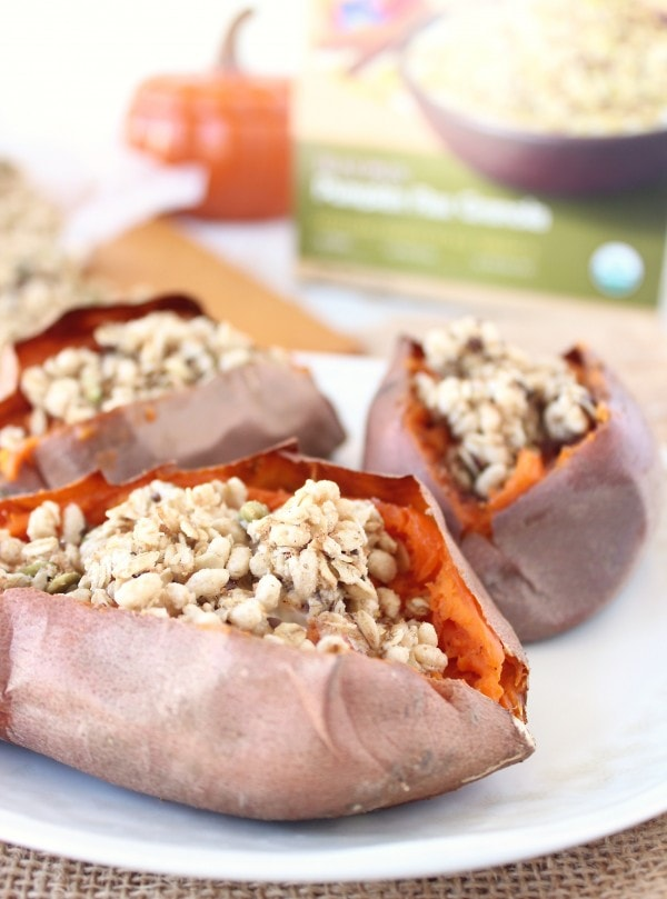 Pumpkin Granola Stuffed Sweet Potatoes Recipe