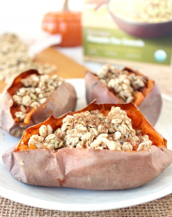 Breakfast Granola Stuffed Sweet Potatoes Recipe