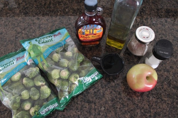 Maple Roasted Brussel Sprouts & Apples Recipe Ingredients