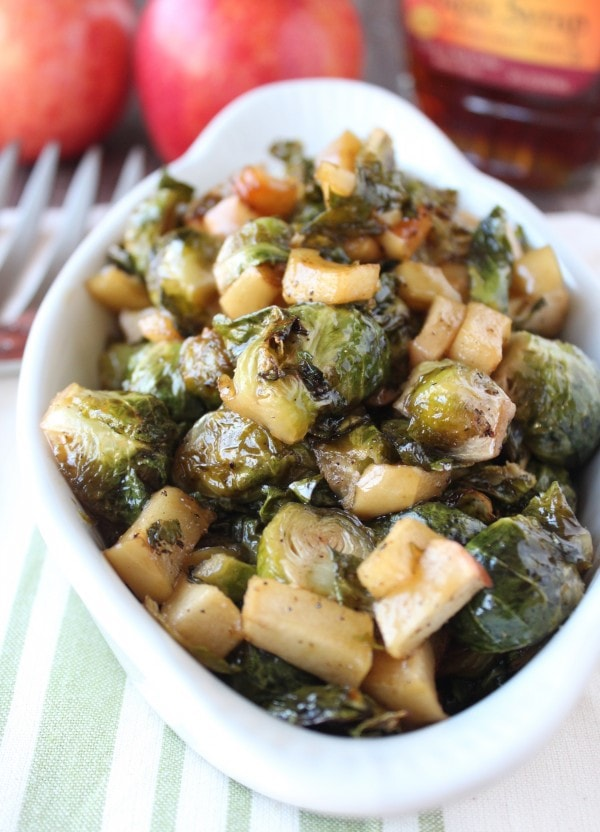 Maple Roasted Brussel Sprouts and Apples Recipe