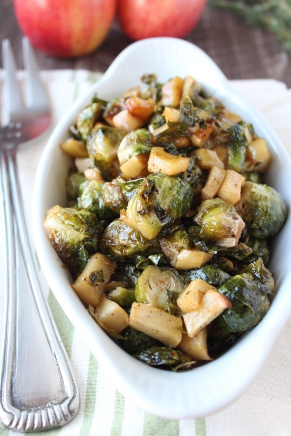Maple Roasted Brussel Sprouts and Apples