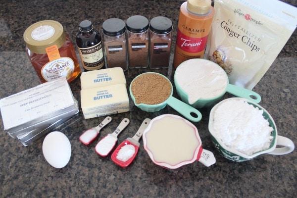 Mason Jar Gingerbread Cupcakes Ingredients