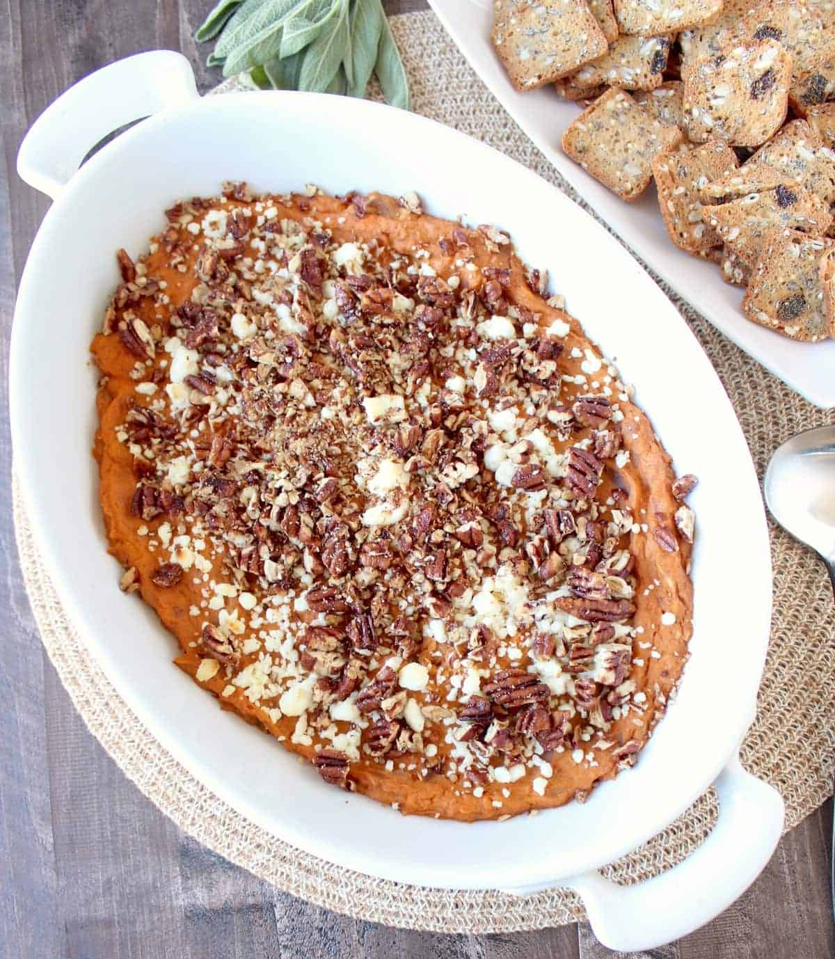 Baked Sweetpotato & Three Cheese Dip