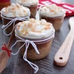 Mason Jar Gingerbread Cupcakes with Caramel Cream Cheese Frosting
