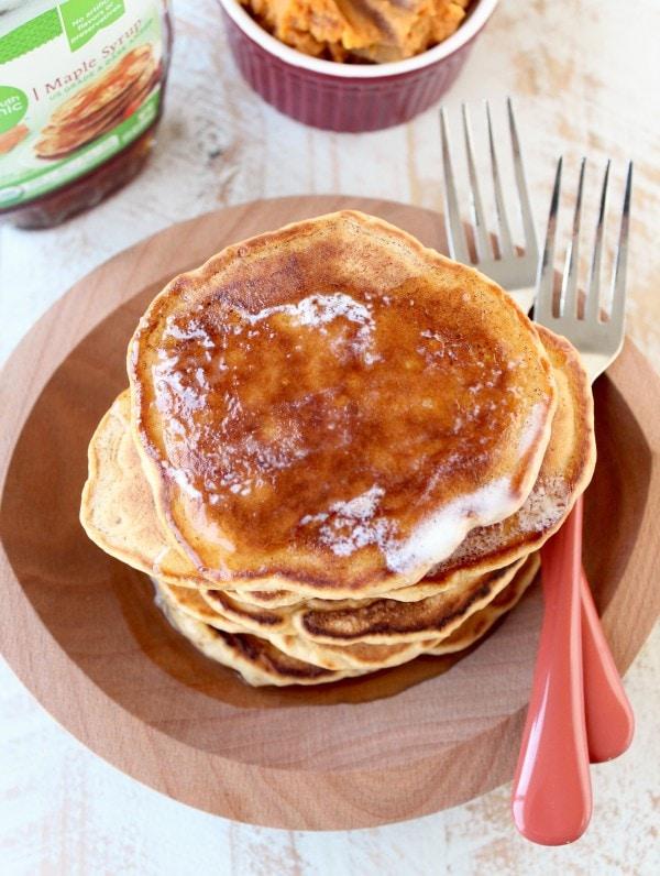 Mashed Sweet Potato Pancakes